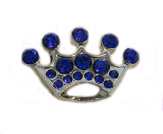 Large Crown Charm Blue