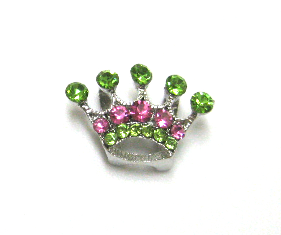 10mm princess crown pink and green