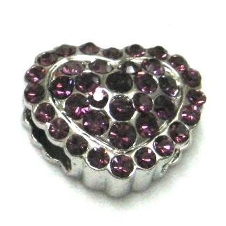 purple puffed heart