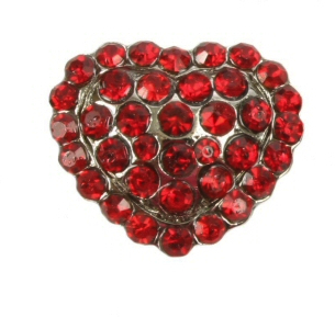 puffed red heart