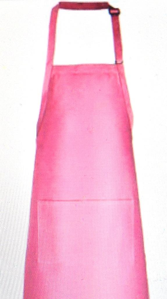 2 pocket adult apron pink