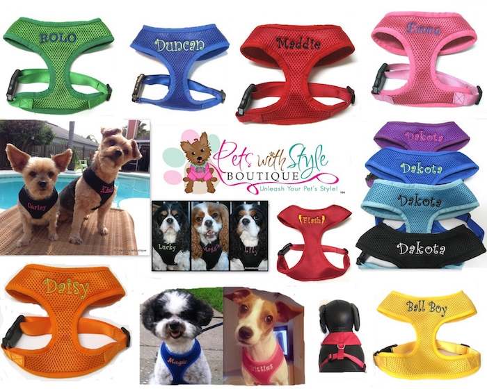 Personalized Embroidered Dog Harness