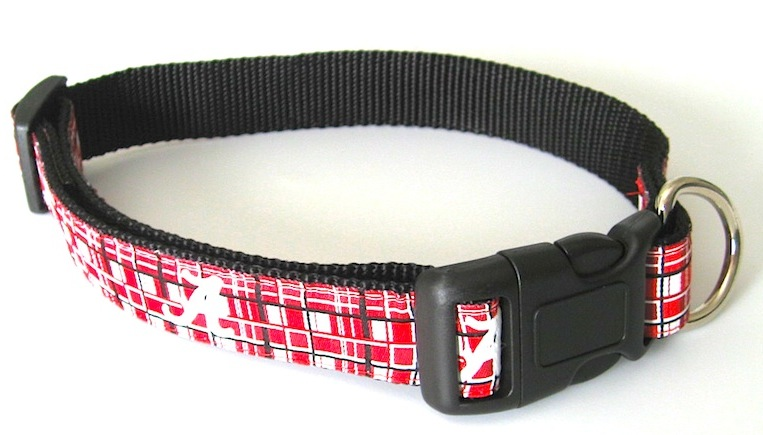 AL Crimson Tide dog collar