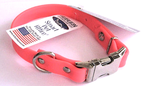 auburn all weather collar neon pink