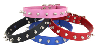 Auburn Leather Spiked Leather Collars Made in the USA