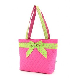 Belvah Handbag Pink Lime