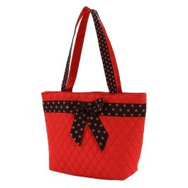 Belvah Handbag Red & Black