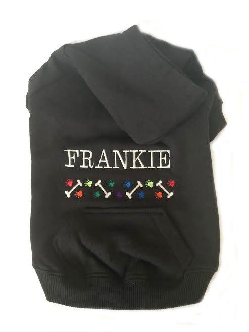 BlackHoodie FRANKIE Bones&Pawsedited