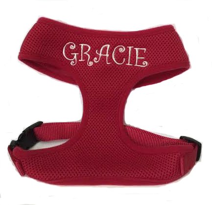 #2 Best Seller Personalized Dog Harness Soft Breezy Mesh™ Custom Embroidered S - XL with Matching Leash Available for purchase