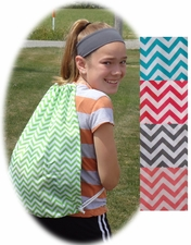 Chevron Drawstring Backpack