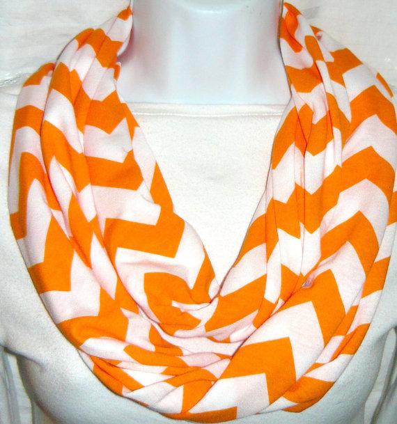 Chevron Infinity Scarf Orange