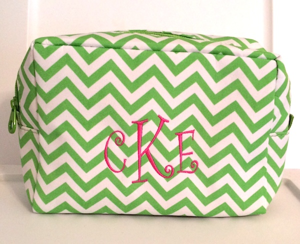 Chevron Travel cosmetic bag CKE Curlz