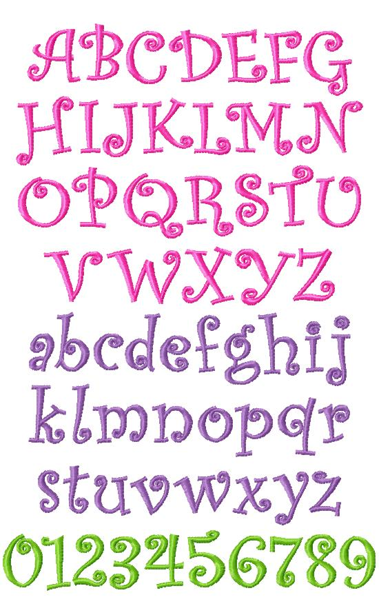 Curlz Alphabet