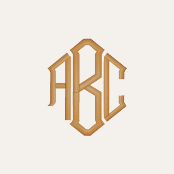Diamond Monogram ABC