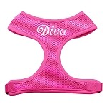 Diva Pink soft mesh harness