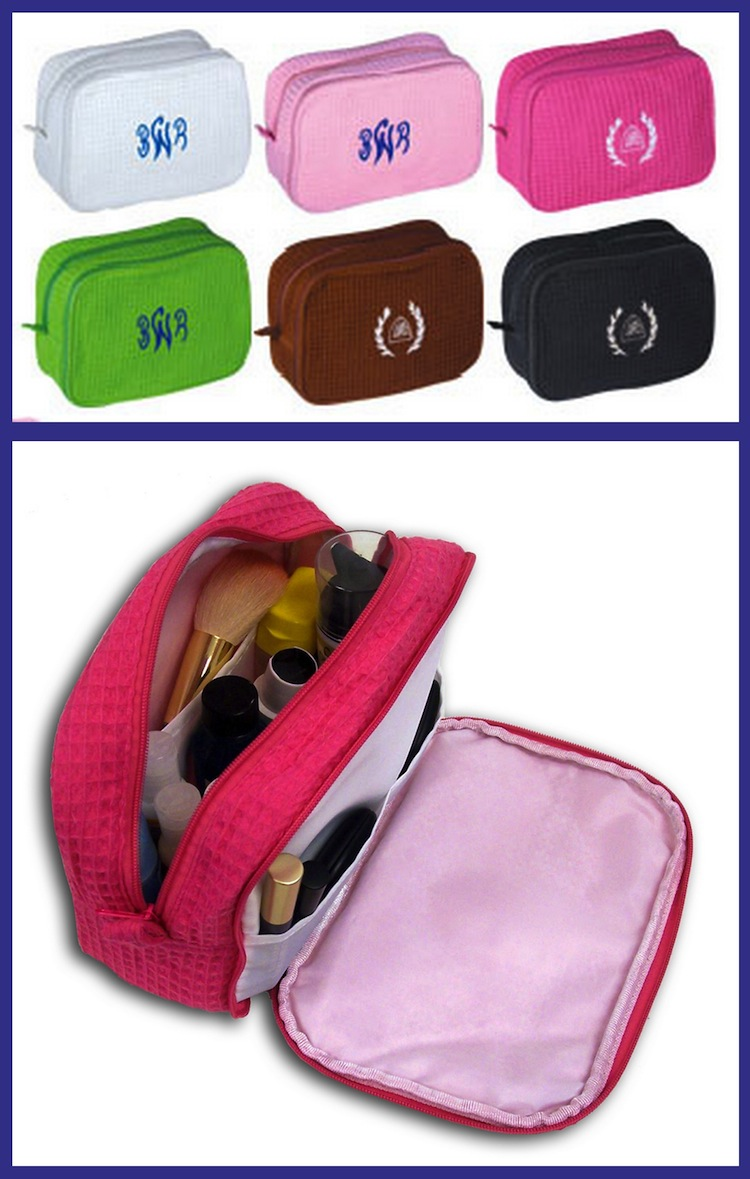 CosmeticBags Double Zippered