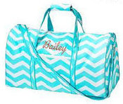 Duffel Bag Aqua Chevron 2