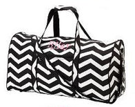 Duffel Bag Black Chevron