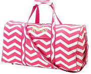 Duffel Bag Pink Chevron