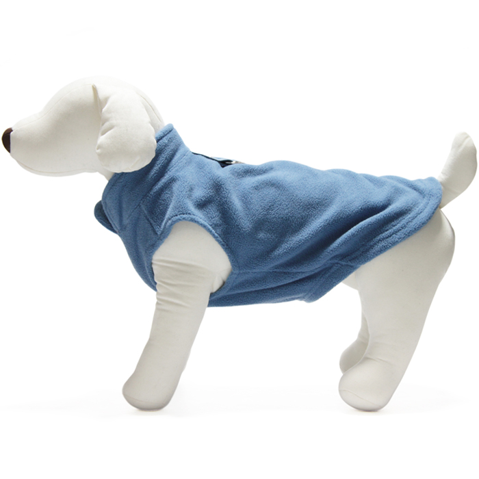 Gooby Fleece Harness vest Blue