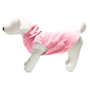 Gooby fleece hoodie light pink