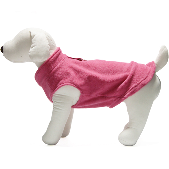 Gooby fleece harness vest Hot Pink