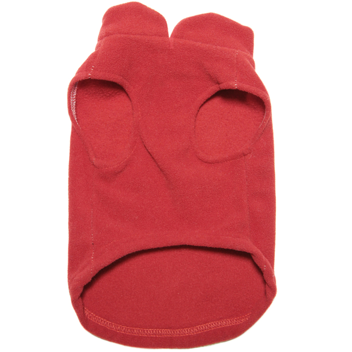 Gooby fleece harness vest Red underside