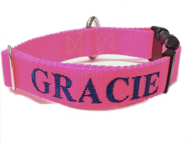 Keystone Casual Nylon Dog Collars and Leashes Vivid Colors Made in the USA Personalized