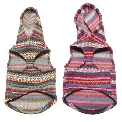 Designer Print Sweater Hoodie Pink & Green underside