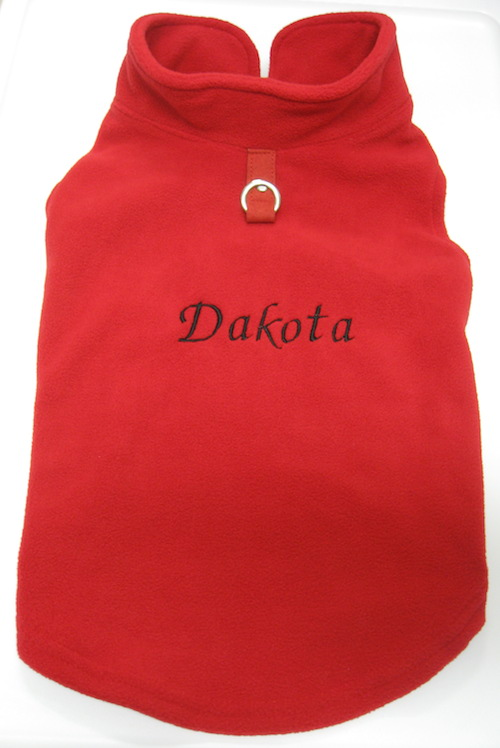 Gooby Vest Dakota Fancy Script