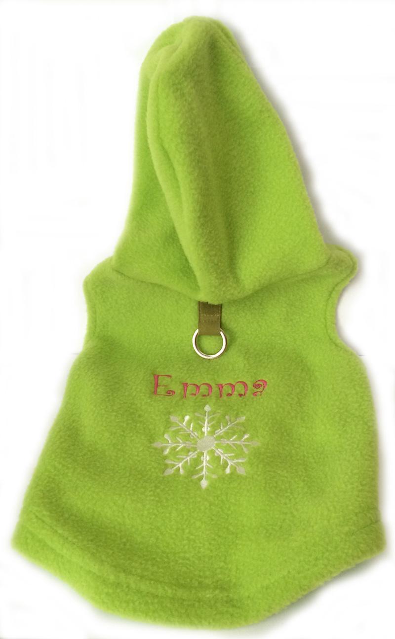 Green Hoodie Emma Snowflake