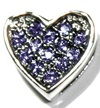 Heart charm purple