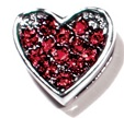 Heart charm red