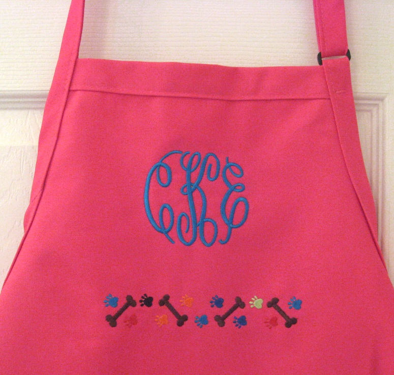 Pet Lover Aprons - Choose Color, Monogram, Name, Border, and/or Design