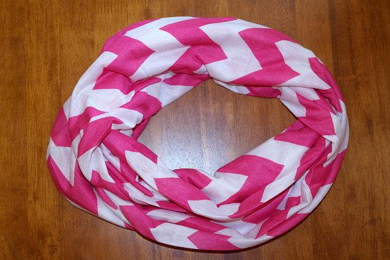 hot pink chevron scarf