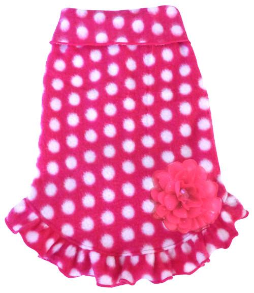 StretchFleece Pullover Hot Pink dot
