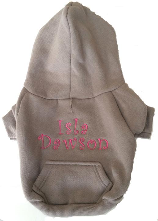Pewter hoodie Isla