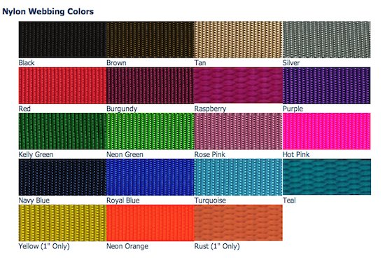 Keystone Casual Nylon Dog Collars and Leashes Vivid Colors Made in the USA