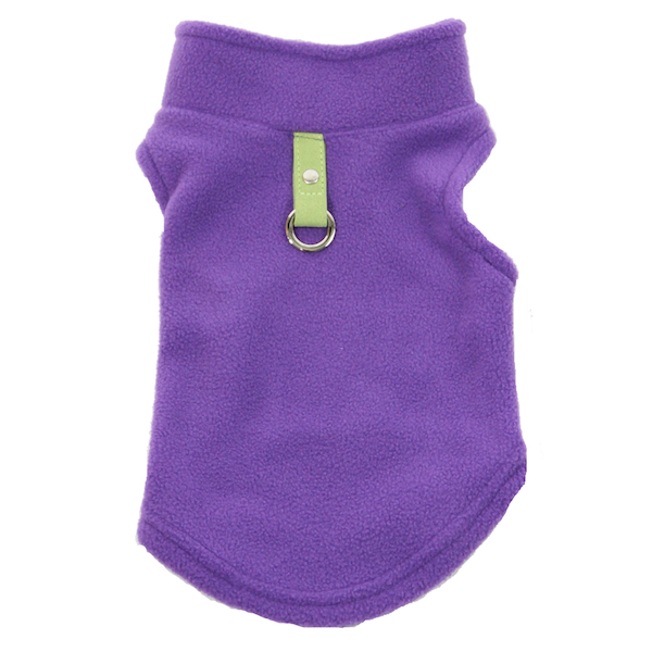 Purple Gooby harness vest front