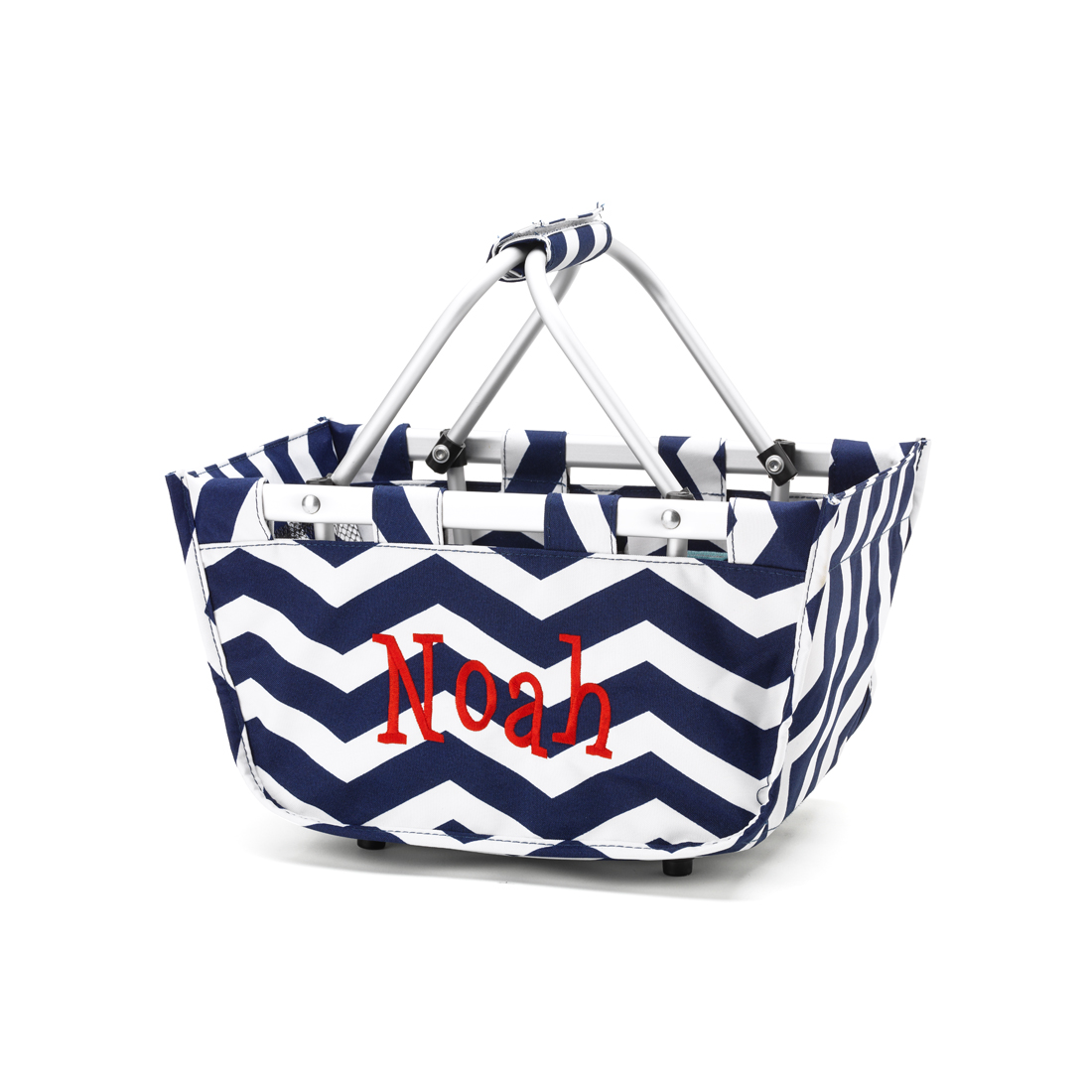 Mini Market Navy Chevron