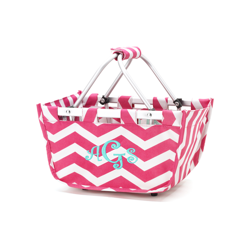 Mini Market tote Hot Pink Chevron
