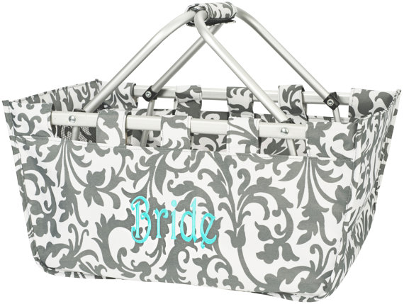 Market Tote Gray Floral