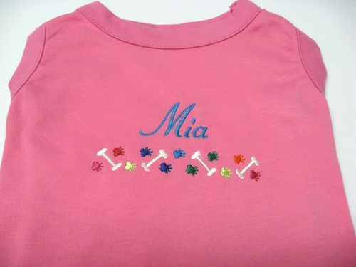 Personalized shirt Name dog and paw border