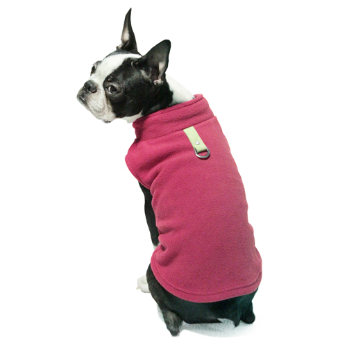 Gooby fleece harness fuschia