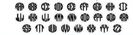 Monogram Circle Alphabet