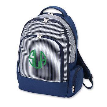 NavyPinstripeBackpack