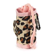 Dog Waste Bag Holder Pink Leopard 2
