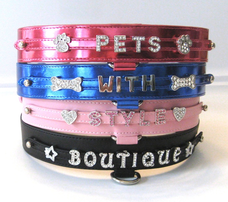 Bling PSD Personalized dog collars