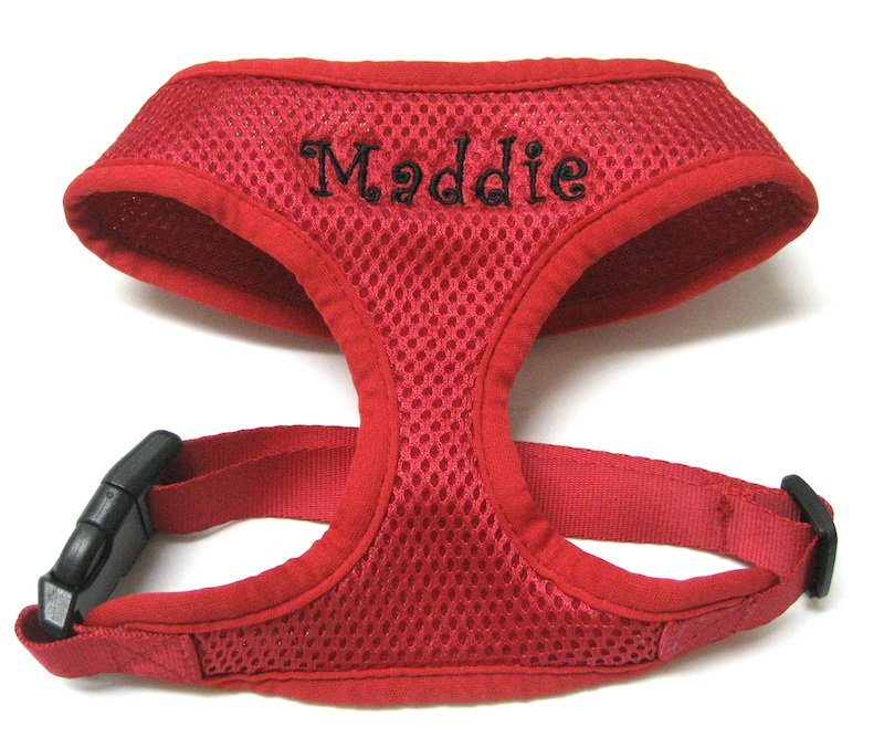 Med Red Harness Maddie Curlz letters