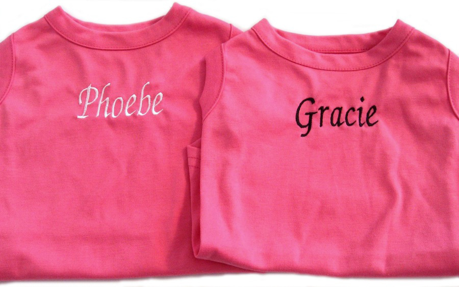 Personalized Dog Tanks Pink